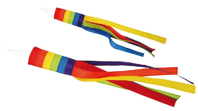 windsack rainbow 100cm oder 150cm windsocke windspiel deko f r fahnenmast ebay. Black Bedroom Furniture Sets. Home Design Ideas