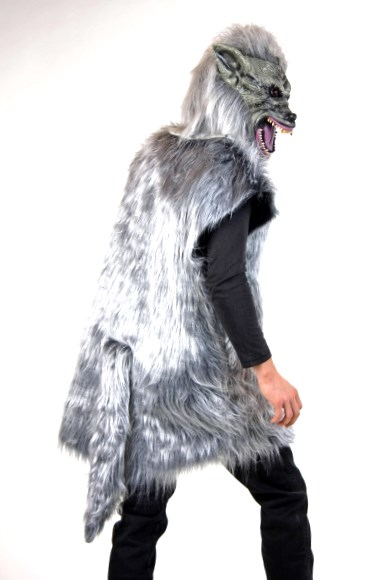 kost m wolf wolfsmaske werwolf fasching karneval halloween gruselkost m b ser ebay. Black Bedroom Furniture Sets. Home Design Ideas